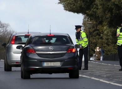 Garda checkpoints in the Phoenix Park in Dublin