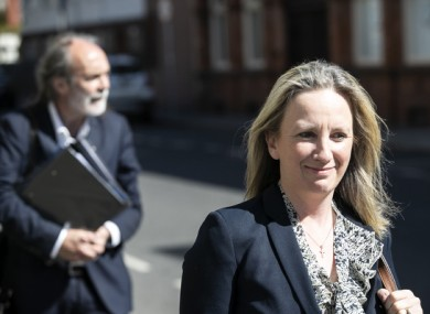 John Waters and Gemma O'Doherty arriving at the Four Courts for the second day the High Court action in May