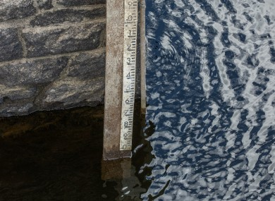 A photo supplied by Irish Water showing dropping water levels in Bohernabreena in Dublin last Friday