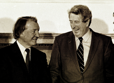 FF's Charles Haughey was constantly at loggerheads with FG's Garret Fitzgerald in the 1980s.