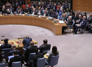 A Security Council meeting in New York earlier this year