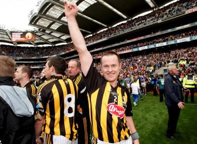 Michael Kavanagh celebrates Kilkenny's All-Ireland victory in 2009.