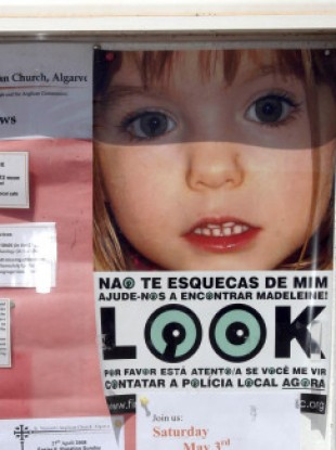 A missing persons notice board in Portugal.