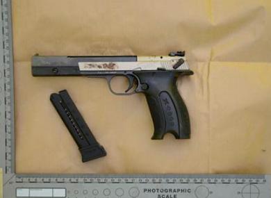 The gun is a a Hemmerli X-Esse pistol.