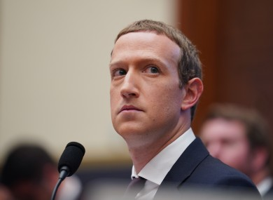File photo. Facebook CEO Mark Zuckerberg.