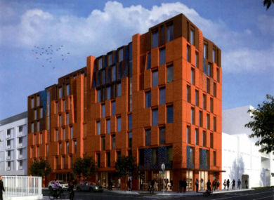 A rendering of what the hotel could look like as part of plans submitted to DCC