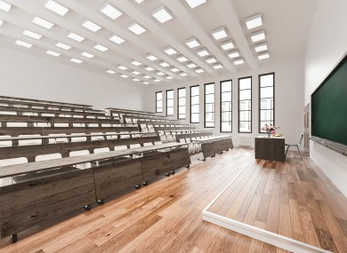 Many lecture halls will remain empty when the new academic year begins later this year.