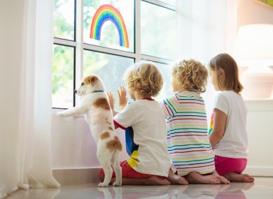 File image of children during lockdown.