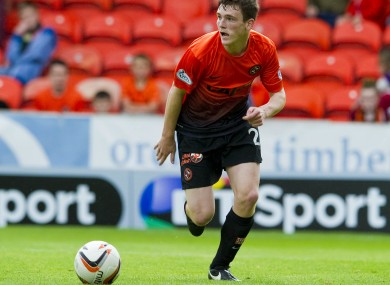 Robertson in action for Dundee United in 2014.