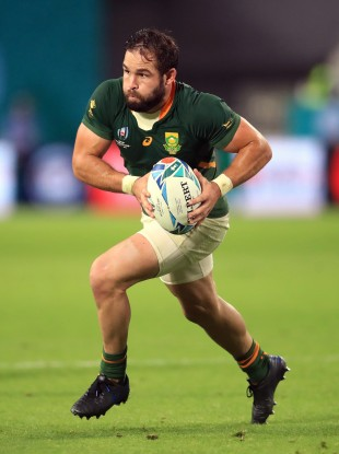 Cobus Reinach in possession for South Africa during their win against Canada at the 2019 Rugby World Cup.