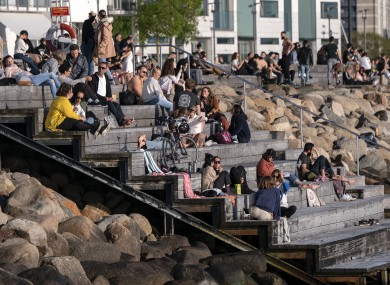 People in Malmo, Sweden last month.