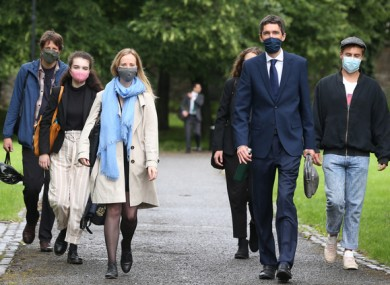 Members of Climate Case Ireland (CCI) arriving for the sitting of the Supreme Court last month.