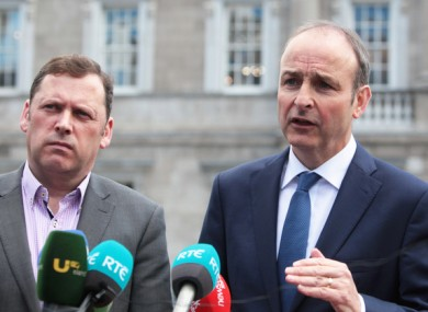 File image of Barry Cowen and Micheál Martin in 2016.