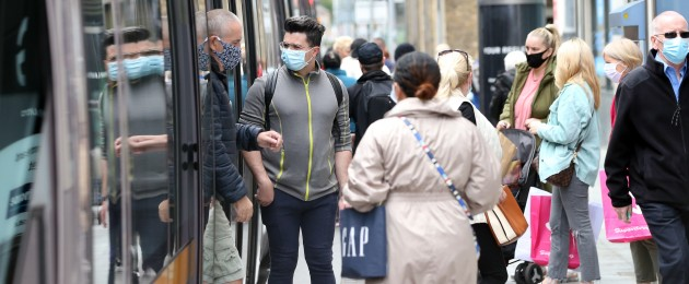 From today, all passengers on public transport must wear a face covering.