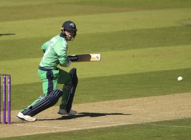 Curtis Campher on his debut for Ireland against England yesterday.