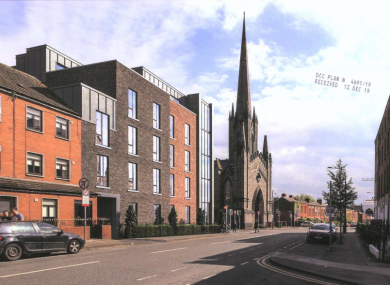 A rendering of what the development would look like on Mountjoy Street.
