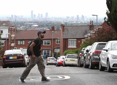 The Manchester skyline viewed from Oldham.