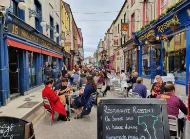 A photo of Princes Street taken on Monday.