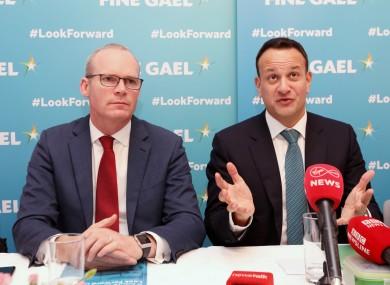 An Taoiseach Leo Varadkar with Tanaiste Simon Coveney, 31 January 2020.