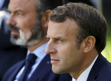 File image of French President Emmanuel Macron, right, and former prime minister Edouard Philippe
