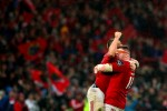 Brian Scott celebrates with Ian Keatley.
