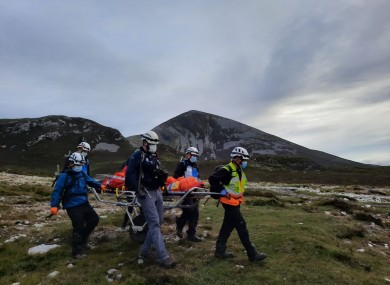 MMR rescuing a person from Croagh Patrick on Tuesday.