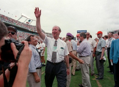 Jack Charlton at Giants Stadium in 1994.