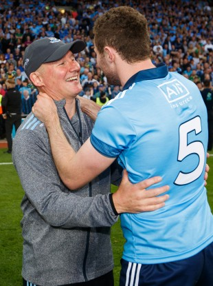 Jim Gavin and Jack McCaffrey after the 2019 All-Ireland final replay.