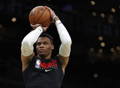 File photo of Russell Westbrook earlier this season.