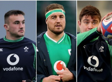 (L-R) Helleher, Herring and Heffernan were the men at the top of Andy Farrell's list early this year.