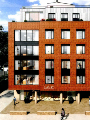 Visualisation of the co-living building planned in Rathmines.
