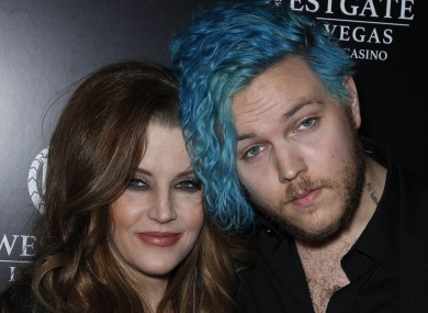 Lisa Marie Presley with her son Benjamin Keough.