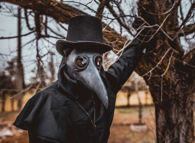 Plague doctors wore a distinctive costume during the Black Death.