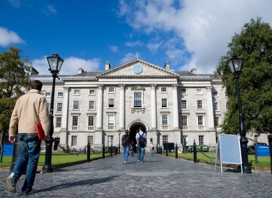 File image of the Trinity College Dublin campus.