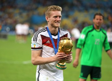 Andre Schürrle after the 2014 World Cup final.