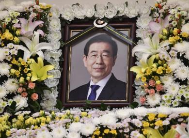 A portrait of the deceased Seoul Mayor Park Won-soon.