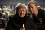 Christine Keegan with her daughter Antoinette at a vigil in February
