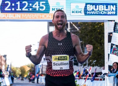 Scullion finished second at the Dublin Marathon in 2019.