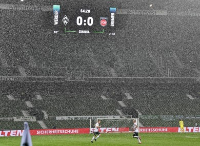It was a miserable night for the Bundesliga's relegation / promotion play-off first leg.