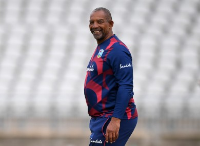 West Indies cricket coach Phil Simmons.