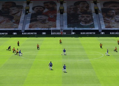 Players have been regularly taking a knee in support of Black Lives Matter prior to Premier League matches.