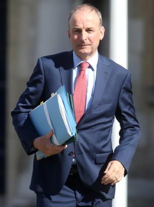Taoiseach Micheal Martin TD arriving for Cabinet at Dublin Castle.