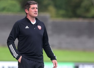 Derry City manager Declan Devine (file pic).