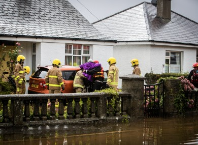 Nearly 40 people had to be rescued from flood water across Northern Ireland.