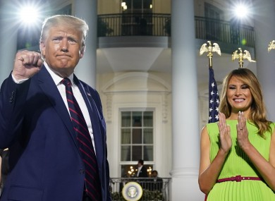 President Donald Trump and first lady Melania Trump on the fourth day of the Republican National Convention in the US.