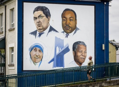 A Bogside mural in Derry city of John Hume