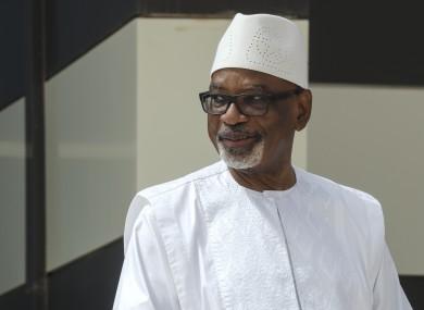 File image of newly resgined Mali president Ibrahim Boubacar Keita.