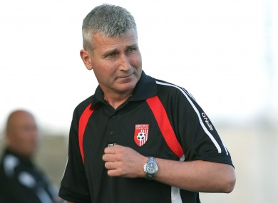 Stephen Kenny pictured during his time in charge at Derry.