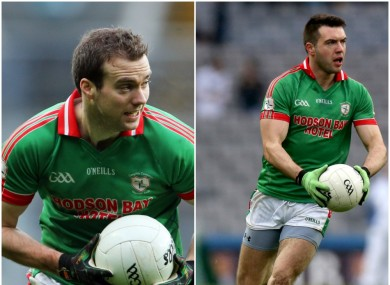 Senan and Ian Kilbride in action for St Brigid's.