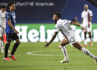 Neymar celebrates his side's stunning victory.
